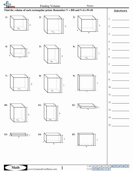 Volume Word Problems Worksheet Unique Volume Worksheets