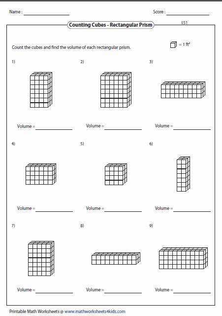 Volumes Of Prisms Worksheet Awesome Volume Worksheets
