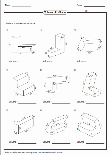 Volumes Of Prisms Worksheet Elegant Volume Worksheets