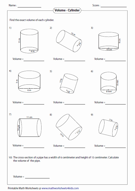 Volumes Of Prisms Worksheet Fresh 3 D Shapes