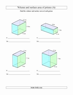 Volumes Of Prisms Worksheet Luxury 1000 Images About Unit 5 area and Volume On Pinterest