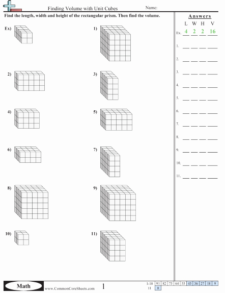 Volumes Of Prisms Worksheet New Volume Worksheets