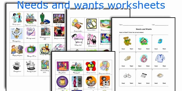 Wants and Needs Worksheet Elegant Needs and Wants Worksheets