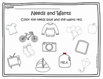 Wants and Needs Worksheet Inspirational Needs and Wants Activities by Tiffany Bearden