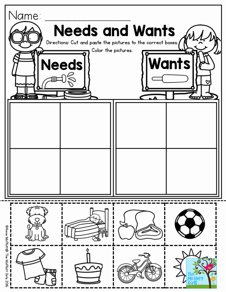Wants and Needs Worksheet Inspirational Needs and Wants Parents Will Love You for This One