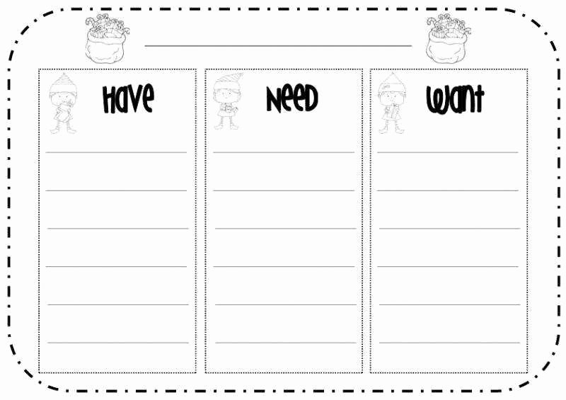 Wants Vs Needs Worksheet New Needs and Wants Worksheet