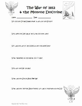 War Of 1812 Worksheet Awesome War Of 1812 Activity by Wise Guys