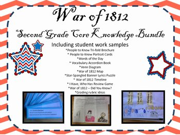 War Of 1812 Worksheet Awesome War Of 1812 Second Grade Core Knowledge Bundle with