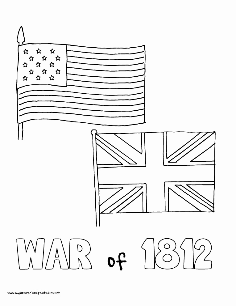 War Of 1812 Worksheet Elegant My Homeschool Printables History Coloring Pages – Volume 4