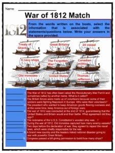 War Of 1812 Worksheet Inspirational War Of 1812 Facts Information & Worksheets for Kids