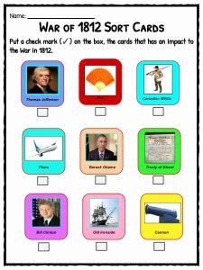 War Of 1812 Worksheet Unique War Of 1812 Facts Information & Worksheets for Kids