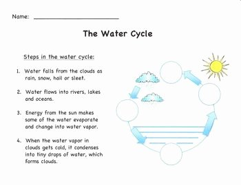 Water Cycle Worksheet Answer Key Beautiful Water Cycle Diagram Simple Version with Answer Sheet