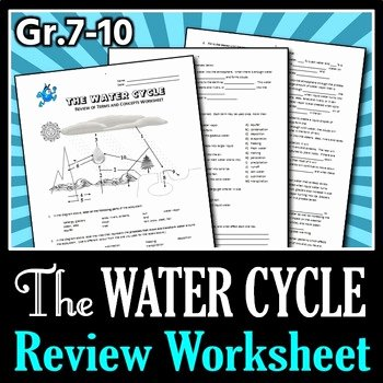 Water Cycle Worksheet Answer Key Best Of the Water Cycle Review Worksheet Editable by Tangstar