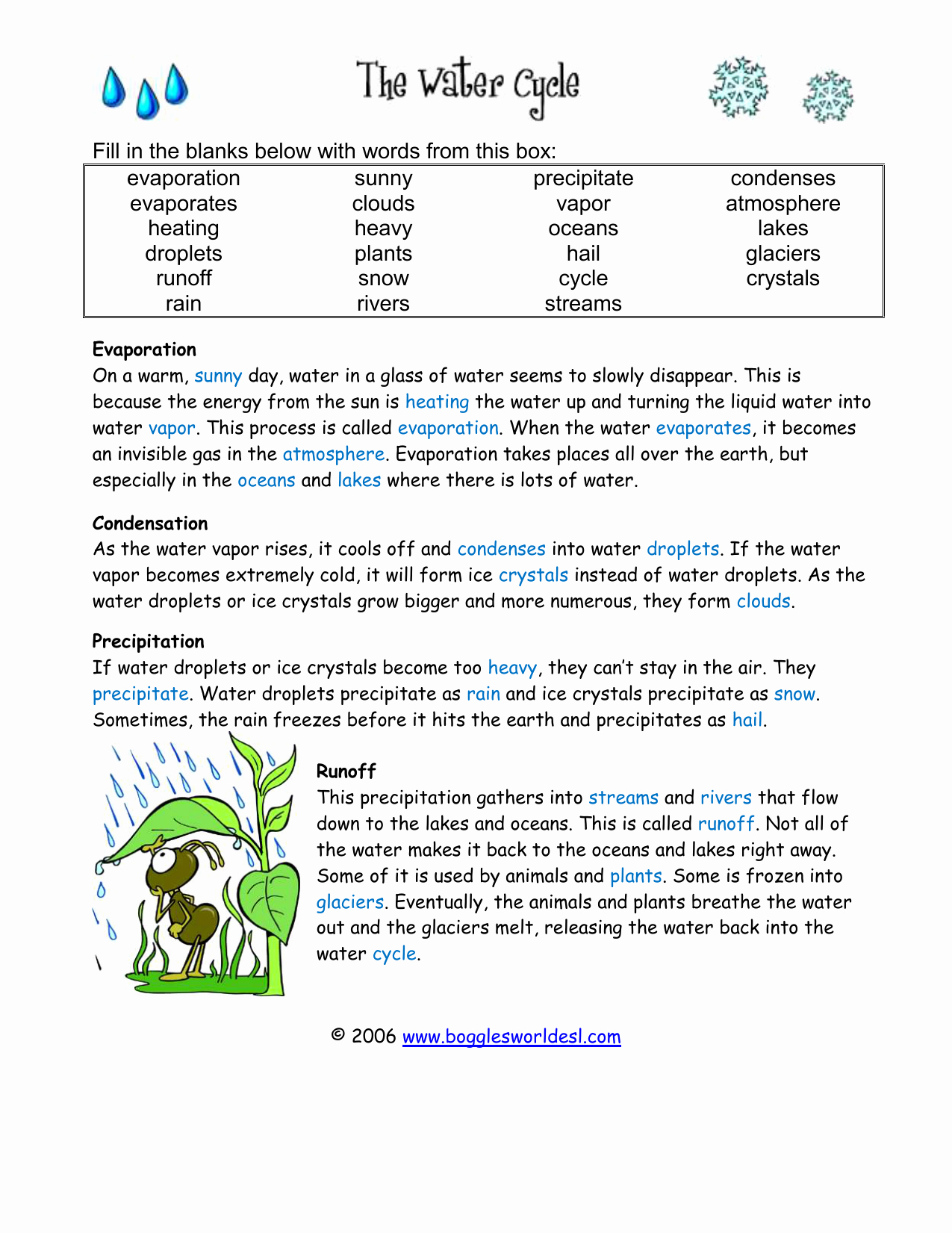 Water Cycle Worksheet Answer Key Elegant Water Cycle Worksheet Answer Key the Best Worksheets Image