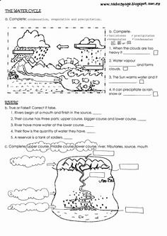 Water Cycle Worksheet Middle School Elegant Of Water Cycle Water Cycle Worksheet Middle