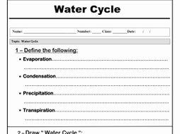 "Water Cycle Worksheet Middle School Elegant Water Cycle "" Worksheet"" by Abubakrshalaby"