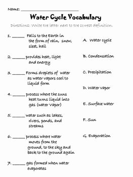 Water Cycle Worksheet Middle School Unique Best 25 Water Cycle Activities Ideas On Pinterest