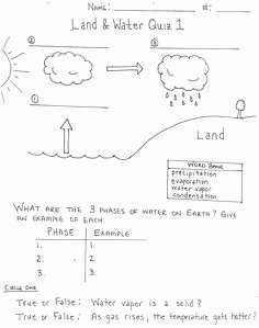 Water Cycle Worksheet Middle School Unique Of Water Cycle Water Cycle Worksheet Middle