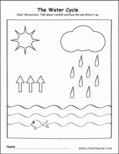 Water Cycle Worksheet Pdf Awesome Printable Water Cycle Worksheets for Preschools
