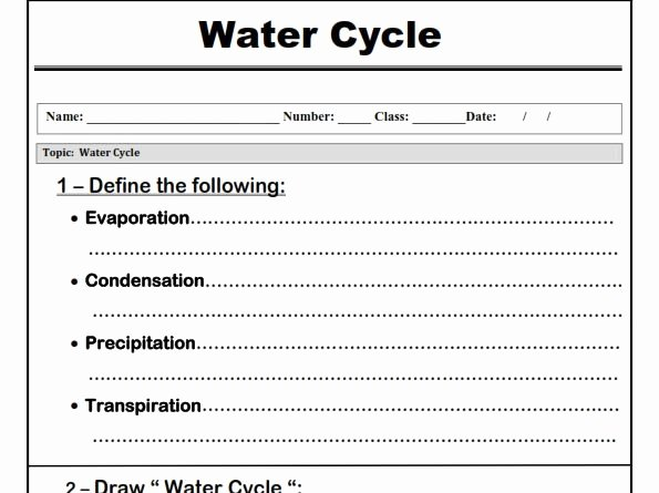 "Water Cycle Worksheet Pdf New Water Cycle "" Worksheet"" by Abubakrshalaby"