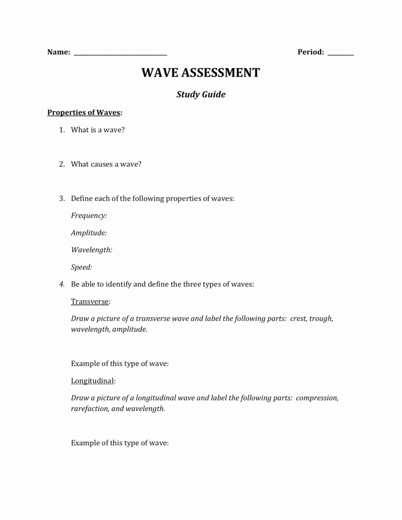 Wave Review Worksheet Answer Key Best Of Worksheet Properties Waves Worksheet Grass Fedjp