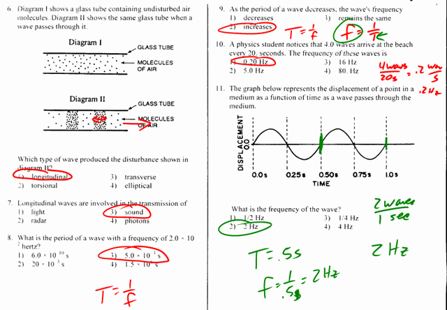 Wave Worksheet Answer Key Unique Transverse Archives Regents Physics
