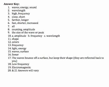 Waves Worksheet Answer Key Inspirational Bill Nye Waves Video Worksheet by Mayberry In Montana