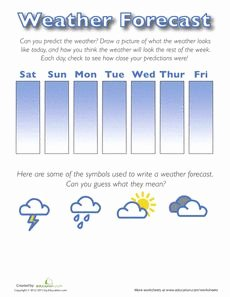 Weather Map Symbols Worksheet Fresh Weather forecast for Kids