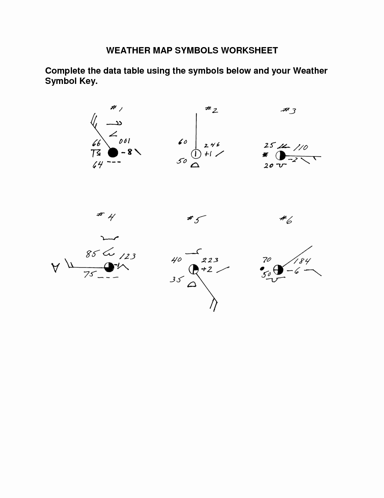 Weather Map Symbols Worksheet Lovely Map Symbols Worksheet Kindergarten
