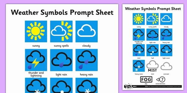 Weather Map Symbols Worksheet Lovely Weather Symbols Activity Sheet Weather