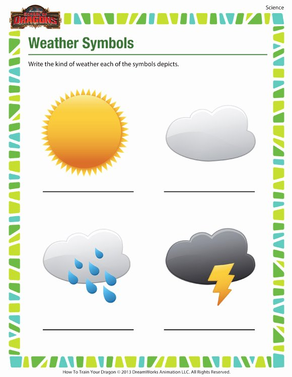 Weather Map Symbols Worksheet New New 689 First Grade Science Worksheets On Weather