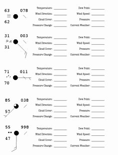 Weather Map Symbols Worksheet Unique Weather Station Models Worksheet