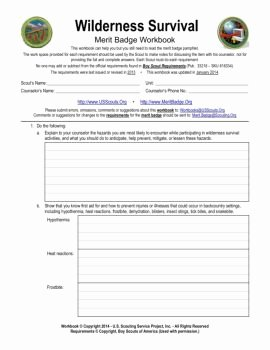 Weather Merit Badge Worksheet Awesome Read Download and Publish Merit Badge Workbook Magazines