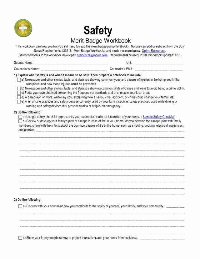 Weather Merit Badge Worksheet Elegant Camping Merit Badge Worksheet