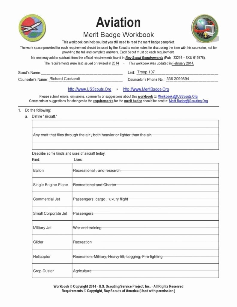 Weather Merit Badge Worksheet Luxury Amazing Aviation Merit Badge Worksheet Siteraven which