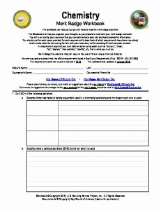 Weather Merit Badge Worksheet Luxury Chemistry Merit Badge Worksheet the Best Worksheets Image