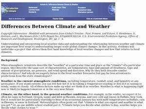 Weather Vs Climate Worksheet Awesome Difference Between Climate and Weather Lesson Plan for 6th