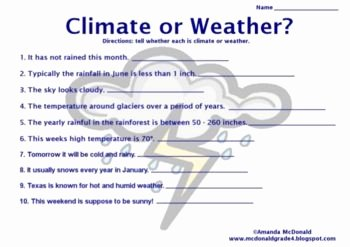Weather Vs Climate Worksheet Beautiful Weather & Climate Lesson