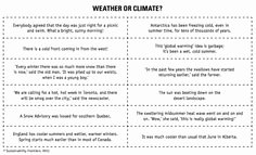 Weather Vs Climate Worksheet Elegant Weather Vs Climate Google Search