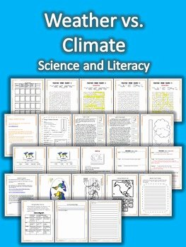 Weather Vs Climate Worksheet Fresh Weather Vs Climate Science and Literacy Lesson Set Staar
