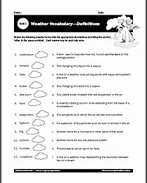 Weather Vs Climate Worksheet New Free Weather Worksheets for Learning All About the Weather