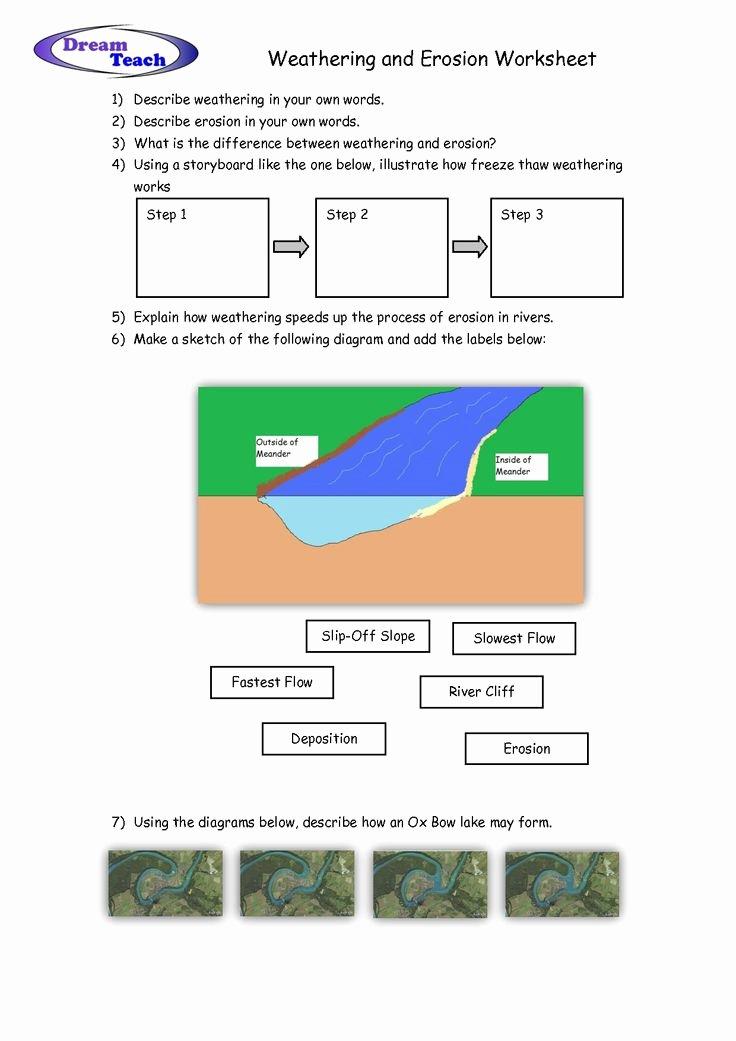 Weathering and Erosion Worksheet Luxury Weathering and Erosion Worksheet School