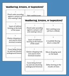 Weathering Erosion and Deposition Worksheet Beautiful Science On Pinterest