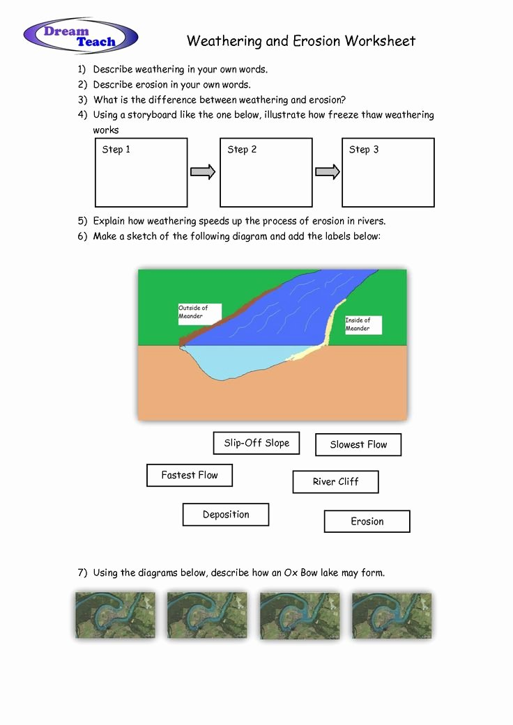Weathering Erosion and Deposition Worksheet Best Of Weathering and Erosion Worksheet School