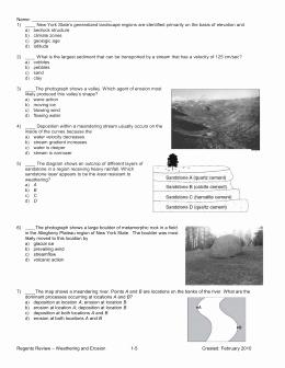 Weathering Erosion and Deposition Worksheet New Review Worksheet Erosion Weathering and Deposition
