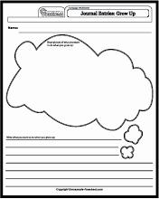 When I Grow Up Worksheet Beautiful Language Worksheets Journal Entries