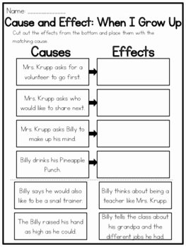 When I Grow Up Worksheet Beautiful when I Grow Up Cause and Effect Worksheet by Kmwhyte S