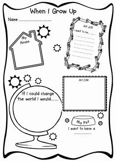 """When I Grow Up Worksheet Best Of Free """"what I Want to Be when I Grow Up"""" Printable"""