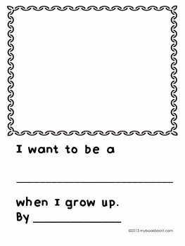 When I Grow Up Worksheet Elegant when I Grow Up by My Book Boost