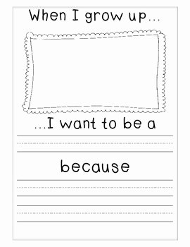 When I Grow Up Worksheet Fresh when I Grow Up Writing Printable by Kim Hunt
